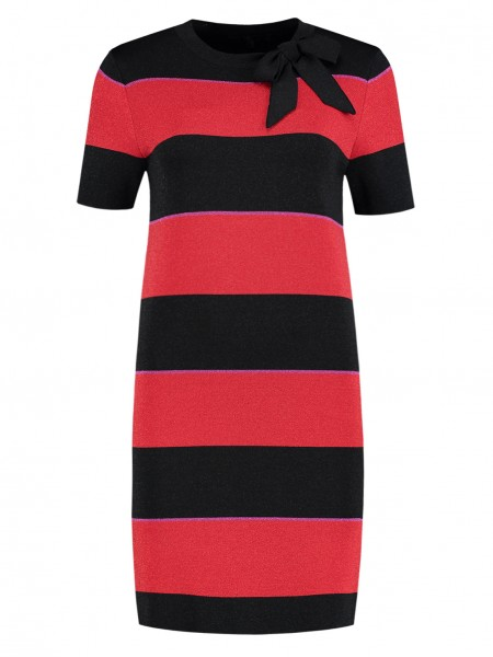 Jolien Stripe Bow Dress