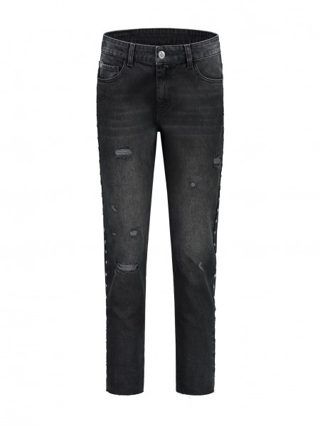 Baila Hexagon 7/8 Boyfriend Jeans