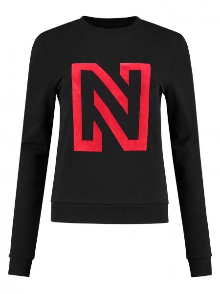 N Logo Flock Sweater